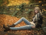 Cowgirl In Autumn . .