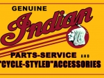 Indian Motorcycle Sales and service sign