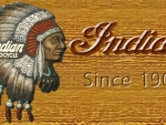 Vintage Indian war bonnet logo