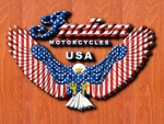 Indian Motorcycle 3D stars and stripes
