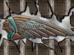 Indian Motorcycle tank emblem steel