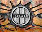 1970 Toyota cracked steel logo