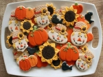 Pumpkin And Scarecrow Gingerbread Cookies
