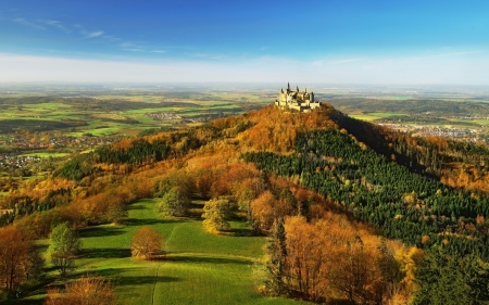 Hohenzollern Castle, Germany - Hohenzollern, castle, Germany, landscape, panorama