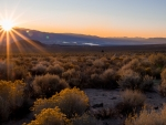 Sunrise over Owens Valley