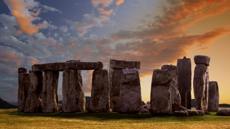 Samhain is coming - fileld, stone circle, Great Britain, pagan, nature, landscape, scene, ancient, Stonehenge, wallpaper