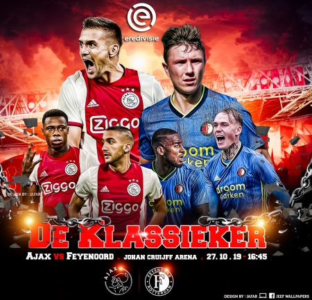 AJAX - FEYENOORD - afc ajax, champions league wallpaper, ajax feyenoord wallpaper, amsterdam, de klassieker, ajax wallpaper, ajax, feyenoord, football wallpaper, champions league, football, feyenoord rotterdam, ajax asterdam