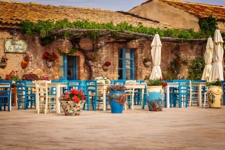 tavern in Sicily - building, photography, tavern, restaurant