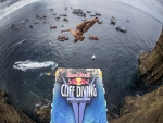 Cliff Diving Fish Eye View