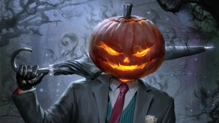 SpookyJack - billcreative, fantasy, orange, pumpkin, halloween, tie, umbrella, spookyjack, costume