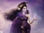 Purple Veiled Fantasy Girl