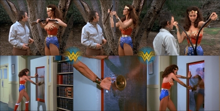 Wonder Woman Destroys a Rifle and Breaks Into a Safe - Wonder Woman Bends Rifle, rifle, WW, Wonder Woman, safe, Lynda Carter, Breaking Into Safe