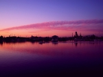 Port Adelaide Harbor at Twilight