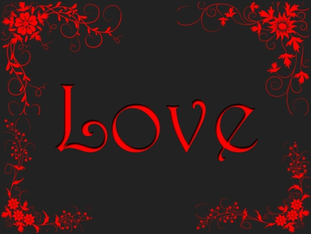 True Love - with love, red, jacqelinela, pretty, lovely, jacqeline, black, beautiful, abstract, nice, 3d, love, flowers