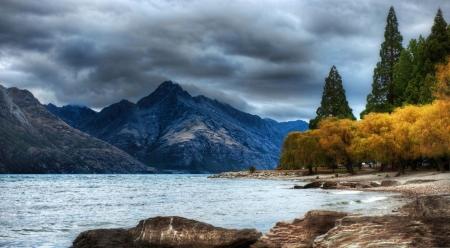 Mountain Lake Autumn Lakes Nature Background Wallpapers