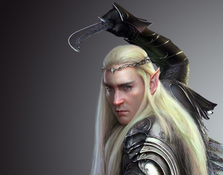 Thranduil - fantasy, luminos, elf, nicholas jiang, man, thranduil, king, hobbit, armor, lotr