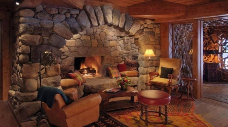 Beautiful Fireplace - Wood, Fireplace, Beautiful, Chairs