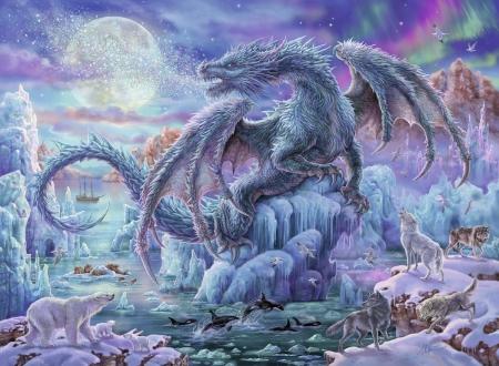 Ice Dragon Fantasy Abstract Background Wallpapers On Desktop Nexus Image 2521124
