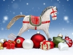 Old Rocking Horse and Baubles