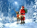 Starry Night Santa Claus