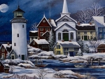 Winter Village and Lighthouse