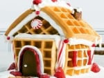 Candy Gingerbread House with Strawberries