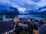 Cloudy Hallstatt and Hallstattersee