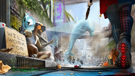 Street artist - street, shoes, artist, world, legs, luminos, cg max, vara, cgmax, dolphin, fantasy, summer