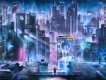 Blade Runner Cyberpunk city