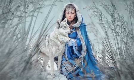 Winter Model with Wolf - Models Female & People Background Wallpapers on  Desktop Nexus (Image 2523782)