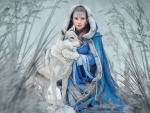Winter Model with Wolf