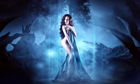 EVE - alluring, Fantasy, sexy, white, eve, blue, fantasy lady, lovely, seductive, Sensual