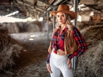 Cowgirl In A Hay Loft