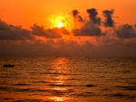 Golden Sunrise in Pondicherry beach