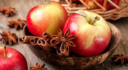 Autumn scents - food, fruits, abstract, fall, apple, autumn, cinnamon, softness, still life, photography, wallpaper