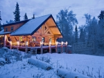 Log Cabin near Fairbanks