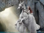 Ethereal Lady on a Horse