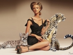 Woman With Cheetahs