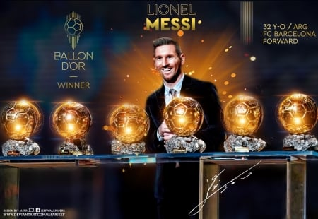 LIONEL MESSI FIFA BALLON D'OR WINNER 2019