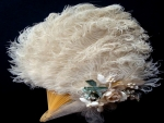 Vintage Ostrich Feather Hand Fan
