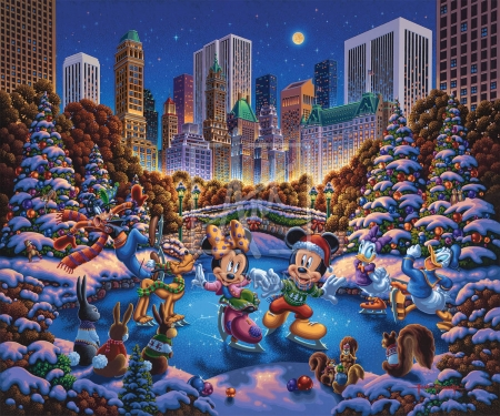 Mickey And Friends Sakting In Central Park Other