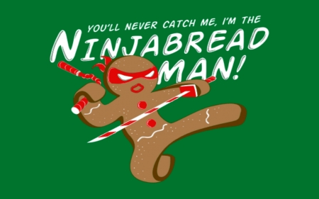 Ninja Bread Man - Man, Bread, Red, Brown, Green, Ninka