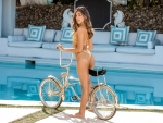 Bikini Model ~ Harmony with her Bike