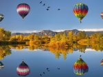 Air-balloons over the river