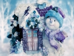 Purple Snow man