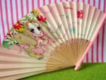 Japanese Retro Seventies Girl Hand Fan