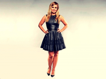 Kristen Bell - hot, smile, dress, 2019, beautiful, Bell, heels, legs, leather, model, actress, Kristen, wallpaper, Kristen Bell