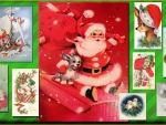 Vintage Christmas Animals collage