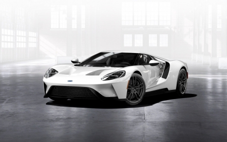 Ford GT Supercar - cars, Ford GT Supercar, vehicles, ford, white vehicles