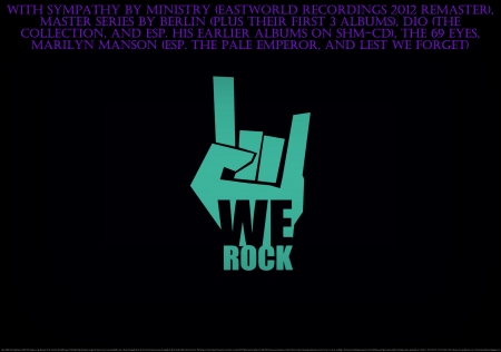 We Rock - peace, joy, metal, goth, cool, off the chain, love, fitness partner, entertainment, heaven, rock hand sign, rock, sick, religious, danse, music, industrial, happiness, exercise partner, fun